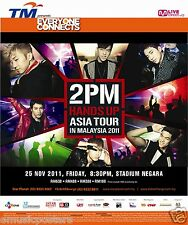 "2PM ""HANDS UP ASIA TOUR IN MALAYSIA 2011"" KUALA LUMPUR CONCERT POSTER - K-pop"