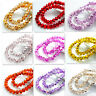 New Colors 80pcs Rondelle Faceted Crystal Glass Loose Spacer Beads 8mm