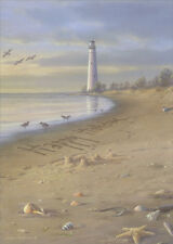 Tall Lighthouse on Beach 18 Boxed Christmas Cards by Lpg Greetings