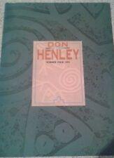 Don Henley Summer Tour 1991 Program booklet