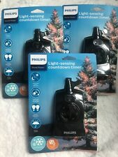 Philips Dusk to Dawn Light Sensing Countdown Timer Outdoor Water Resistant  Lot