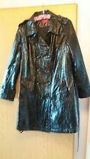 Toller kultiger Mantel Übergang Gr.42 Knautschlack schwarz ANNE L.