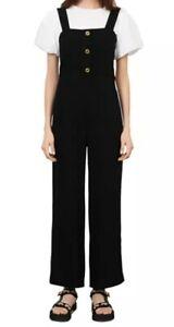 Maje Pampi Black Jumpsuit Size 36 or XS