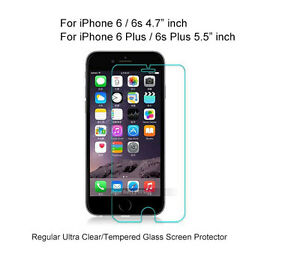 Regular Ultra Clear/Tempered Glass Screen Protector For iPhone 6  6s 6  6s Plus