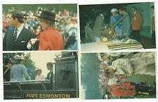 ROYALTY - PRINCESS DIANA & PRINCE CHARLES in CANADA, 1983 Four Postcards