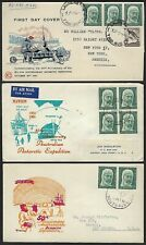 AUSTRALIA & BRITISH ANTARCTIC 1960s COLLECTION OF 8 COVER FIVE ARE FDCs
