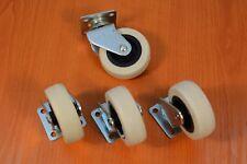 4x Metall Möbelrollen ohne Bremse Räder Lenkrolle Bockrollen Laufrollen 50mm