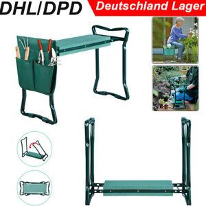 2 in 1 Garten Sitzbank Knieschoner Kniebank Faltbar Arbeitshocker bis 150kg DE