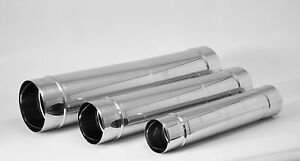 Stainless Steel Telescopic Pipe Chimney Flue Liner Ducting Rigid Solid Tube