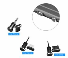 3 in 1 Metal dust plug Micro USB, Type C, iPhone Charging Port & Earphone Jack