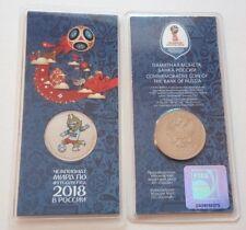 [RU179] Russia 25 roubles 2018 - FIFA World Cup 2018 Talisman Zabivaka Color