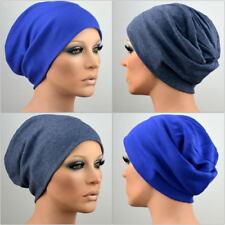 SET Damen Mütze Beanie Chemo Longbeanie blau + graublau bequem Chemomütze Inga
