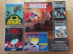 SINCLAIR ZX Spectrum Spielesammlung, Timetrax, High Frontier, Horizons, Jet Pac