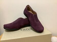 Taos Center Peace Women's Size 6 Purple Suede Slip On Loafers Flats Shoes
