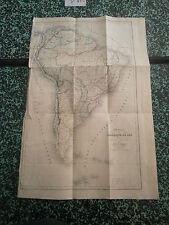 Carte 1850 Amérique du Sud dréssée par Dufour pour Mr Alcide d'Orbigny