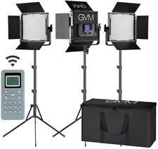GVM LED Video Light Kit , 672S 3 Packs ,Bi-color Photography panel Lighting with