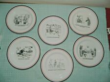 New listing Restoration Hardware Exclusive Set of 6 New Yorker Cartoon Plates Wine Themed