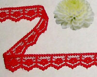 """Red Lace Trim Scallop 14 - 28 Yds x 5/8"""" Floral C15AV Buy any 3 Trims Get 1-FREE"""