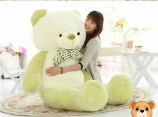 "63"" HUGE BIG LARGE STUFFED ANIMAL PLUSH SOFT TOY GREEN WHITE TEDDY BEAR 160CM"