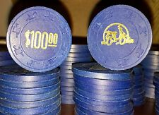 100 Paulson Hat & Cane One On One $100 Chips Poker Casino Chips -- VGC