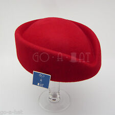 Vintage Wool Felt Ladies Women Stewardess Air Hostesses Pillbox Fascinators Hat
