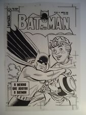 1958 BATMAN # 66 BRAZILIAN COVER ACETATE PRODUCTION ART RETRO EBAL PRODUCTIONS