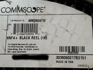 Commscope 6NF4+ 24/4P Cat6 UTP Gel-Filled Direct Burial PE Cable Black /100ft