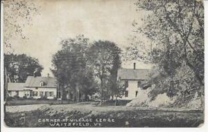 CORNER OF VILLAGE LEDGE, WAITSFIELD, VERMONT