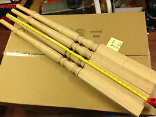 "16 - Red Oak Stair Spindles Balusters Tappered 40"" Long x 2.25"" Base x 1.25"" Top"
