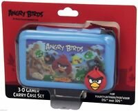 Angry Birds Nintendo 3DS DSi Blue Carry Case Set with 3D Lenticular Picture NEW
