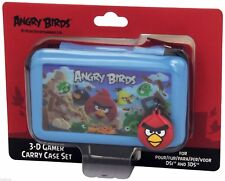 Angry Birds Nintendo 3DS DS DSi Blue Carry Case Set with 3D Lenticular Picture