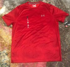 Nwt Men's Under Armour L Tech Scale Pattern Short Sleeve Shirt 1266033 $28 List