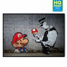Banksy Home Wall Street Art Print Mario Mushroom Poster | A5 A4 A3 |