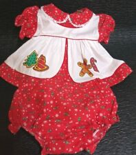 Fisher Price baby girl  two-piece dress red 0 to 6 monthsGingerbread Men Vintage