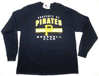 MLB Pittsburgh Pirates Mens Black Baseball Long Sleeve T-shirt Shirt jersey