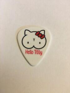 Slash Hello Titty Solo Tour Guitar Pick Kitty Red
