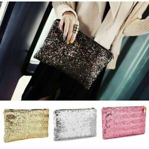 Sparkly Crystal Clutch Evening Bag Wedding Bridesmaid Fashion Handbag Glitter UK