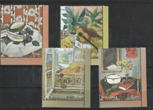 ROMANIA 2021 STAMPS THEODOR PALLADY PAINTINGS ART SET MNH POST FLOWERS