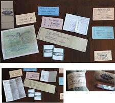 Etiquettes chaussettes, lacets, PH, notices Zippo, stylo, tickets  WW2 (REPRO)