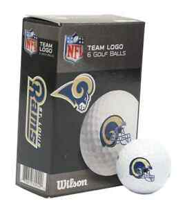 LOS ANGELES RAMS WILSON ULTRA GOLF BALLS 6 PACK BRAND NEW FREE SHIPPING 👀⛳