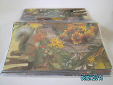 Squirrel with sunflowers vinyl checkbook cover