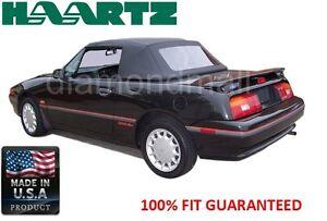 Ford Mercury Capri Convertible soft Top & Plastic Window July 1992-1994 Blk STF
