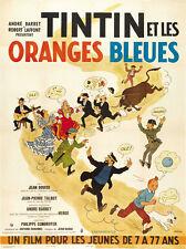 Tintin et les oranges bleues #1011 movie poster print