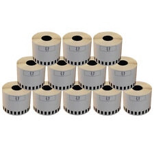 12 REFILL ROLLS DK22205 BROTHER COMPATIBLE CONTINUOUS LABEL 62mmx30.48m DK 22205