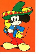 Mexican Costume-Mickey Mouse Disney Character-Artwork Modern Italy Postcard