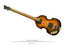 Paul McCartney's 1963 Hofner 500/1 Beatle Bass ART POSTER A2 size