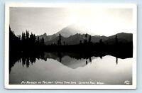 c1940s ELLIS RPPC -  MT RAINIER FROM TIPSU LAKE CHINOOK PASS, WA - S4