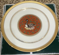 "Mikasa Twelve Days Of Christmas Six Geese A Laying 9"" Accent Plate Gold Trim"
