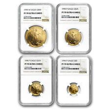 1990 4-Coin Proof Gold American Eagle Set PF-70 NGC - SKU#82737