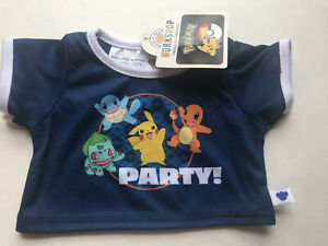 NEW  Exclusive! Build-a-Bear  Pokeball  Pokemon Partly T-shirt.